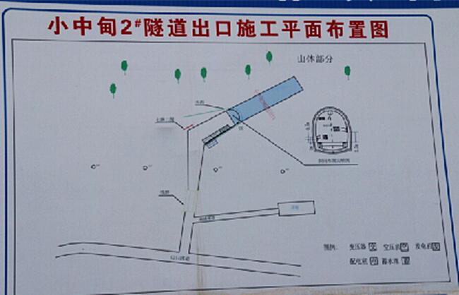 中铁丽香铁路小中甸隧道