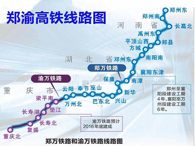 渝万铁路线路图